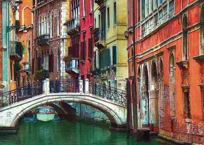 "<em>Venice Canal with Bridge</em>, Photography, 11"" x 14"""