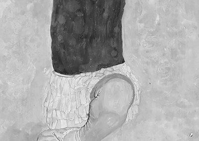 """<em>Tiny Dancer</em>, acrylic on panel, 18"""" x 36"""""""