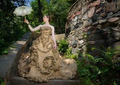 Burlap Dress A