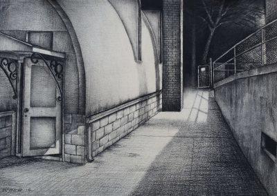 <em>Open Gate I</em>, charcoal