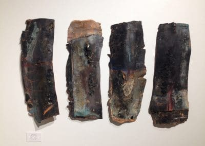"<em>Clay Series 7</em>, Mixed Media on Clay, 24"" x 54"", 1983"