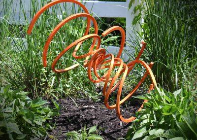 Cosmic Orange Ground Spiral